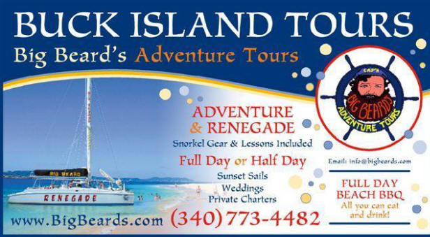 Big Beard's Adventure Tours - Buck Island