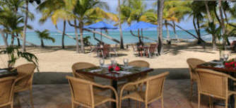 Mermaid Restaurant located beachside at the Buccaneer