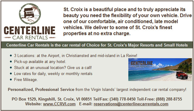 Centerline Car Rentals St Croix Virgin Islands