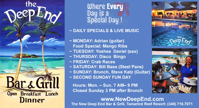 Deep End Bar and Grill on St. Croix.