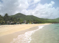 Sandy beach at Gentle Winds, St. Croix