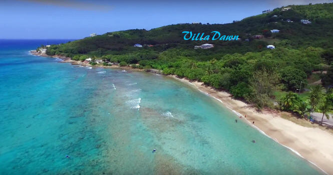 Cane Bay beach and Villa Dawn on St. Croix.